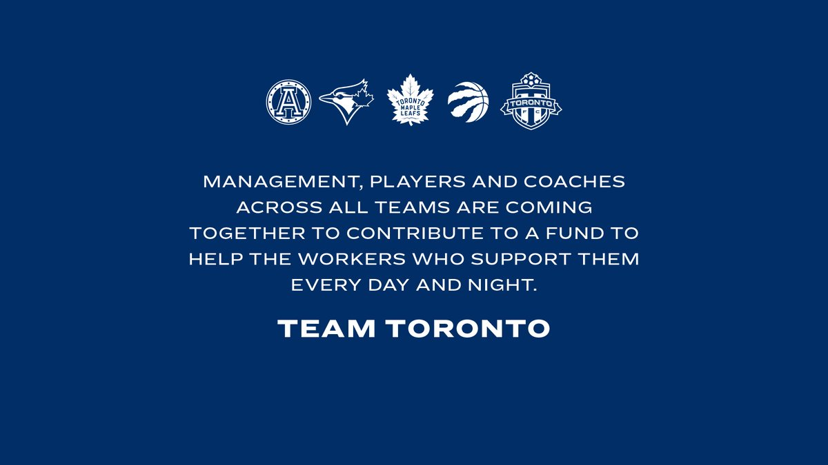 Together we are Team Toronto Official Statement: tml.hockey/3aWgLF3