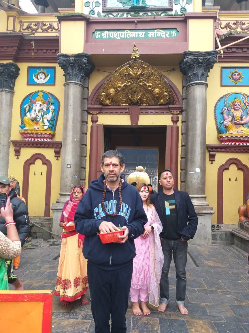 Praying for the world at one of Hinduism's most sacred temples #Pashupathi in Kathmandu #Nepal