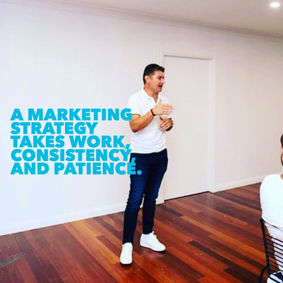 A marketing strategy takes work, consistency, and patience.  There are no short cuts!  @2SonsMarketing • #SydneySocialMedia • #2SonsMarketing #socialmediamarketing #SocialMediaManagementpic.twitter.com/YUL6EtjQYe