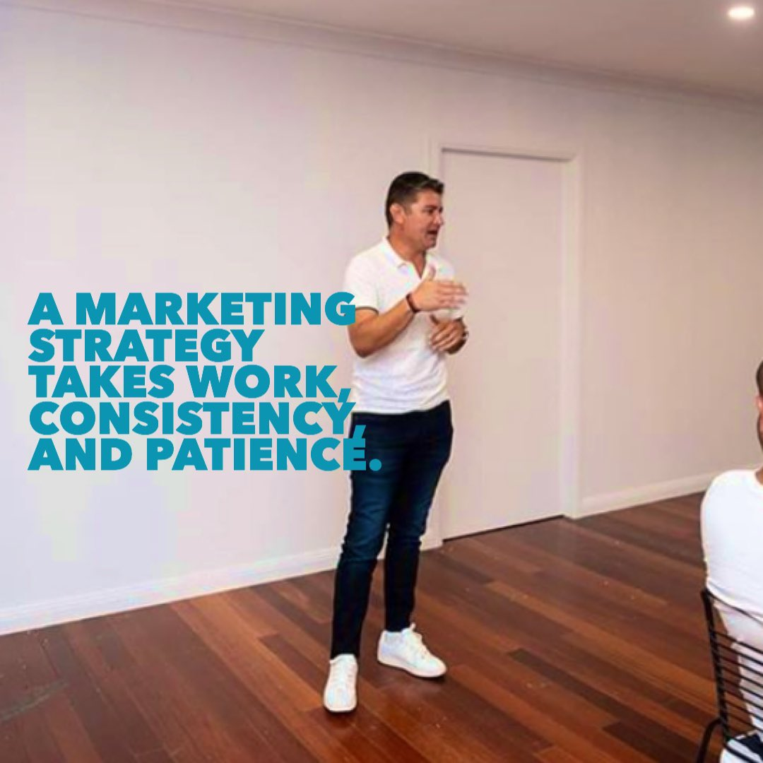A marketing strategy takes work, consistency, and patience.  There are no short cuts!  @2SonsMarketing • #SydneySocialMedia • #2SonsMarketing #socialmediamarketing #SocialMediaManagementpic.twitter.com/diRsvD4BRL
