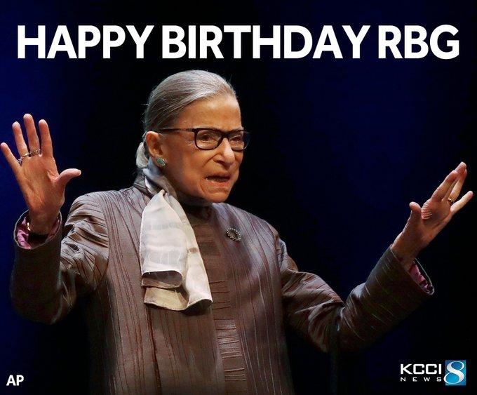 Happy birthday, Ruth Bader Ginsburg!