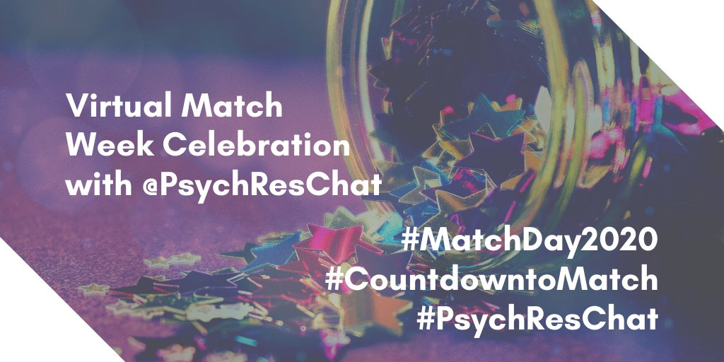 Be on the lookout for #PsychResChat tweets throughout the week as we #CountdowntoMatchDay!!!!