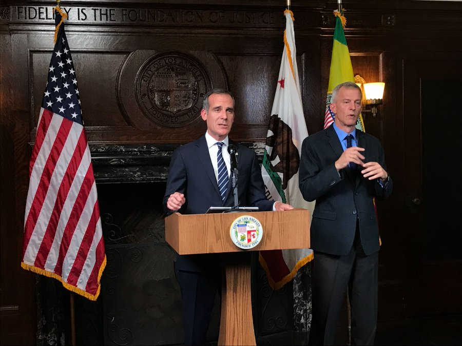 Mayor Garcetti delivers an update from City Hall on COVID-19 response