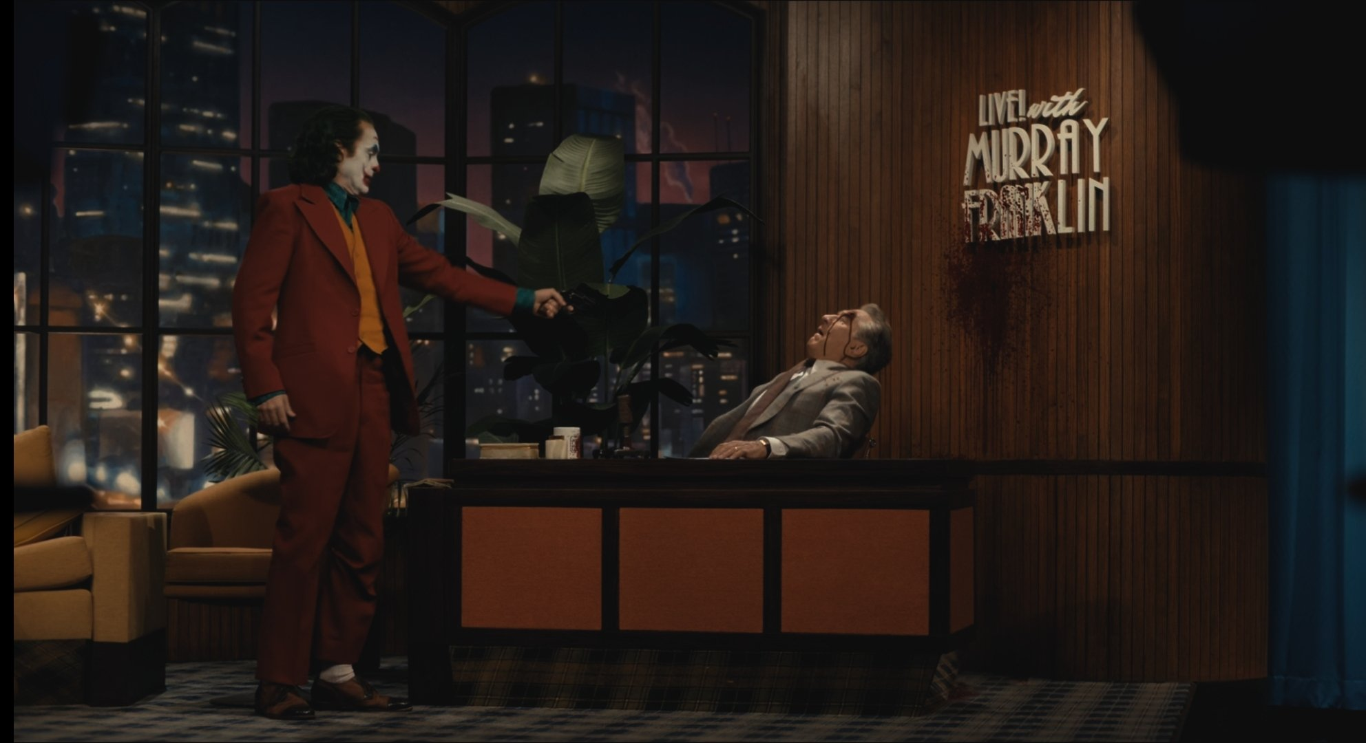 """Thy dan site loves you #person5 Five Finga death p on Twitter: """"*joker gets  up shoots again and drops gun walks to camera*… """""""