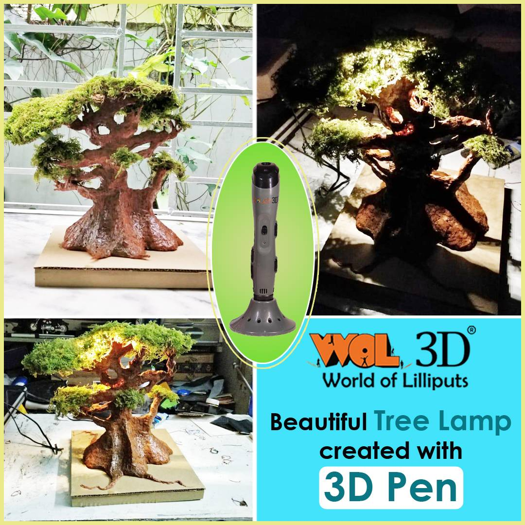 Let your imagination go WILD with 3D Printing! Check this cool Tree Lamp made with WOL3D 3D Pen for some #MondayMotivation 😄  #wol3d #3DPen #3DPrinting #3dlamp #treelamp #3dtree #3dart #3dprint #3dprintingindia #3dpens #3dpenart