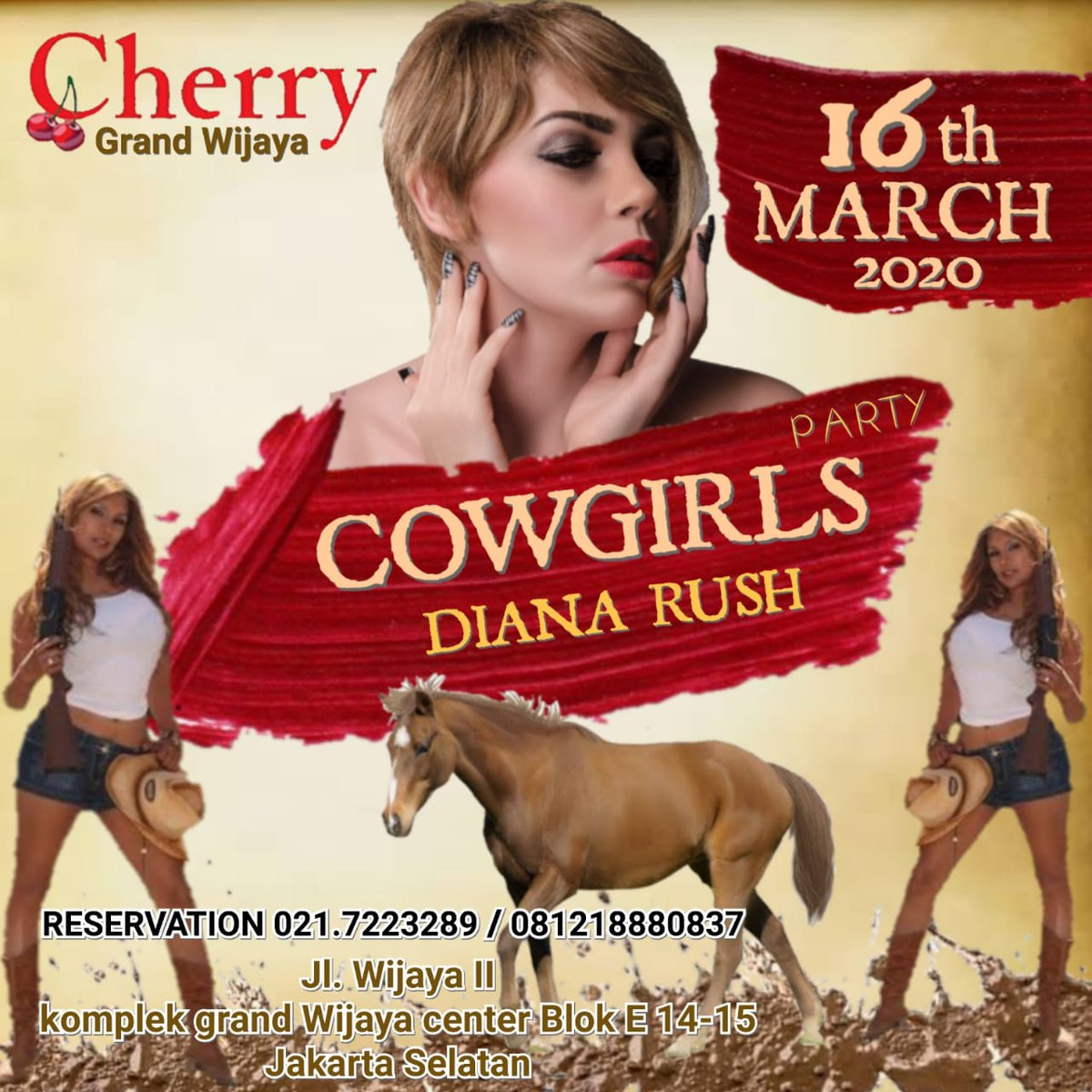TONIGHT PARTY 😍😍 🐎COWGIRLS PARTY🐎  RESERVATION CALL/WA : 081211678533   Alamat: Jl. Wijaya II komplek grand Wijaya center Blok E 14-15 Jakarta Selatan  #bigevent #bestevent #kopdar #kongkow #hangout #entertainment #party #partyevent #clubbersjakartaselatan #nongkrongmurah