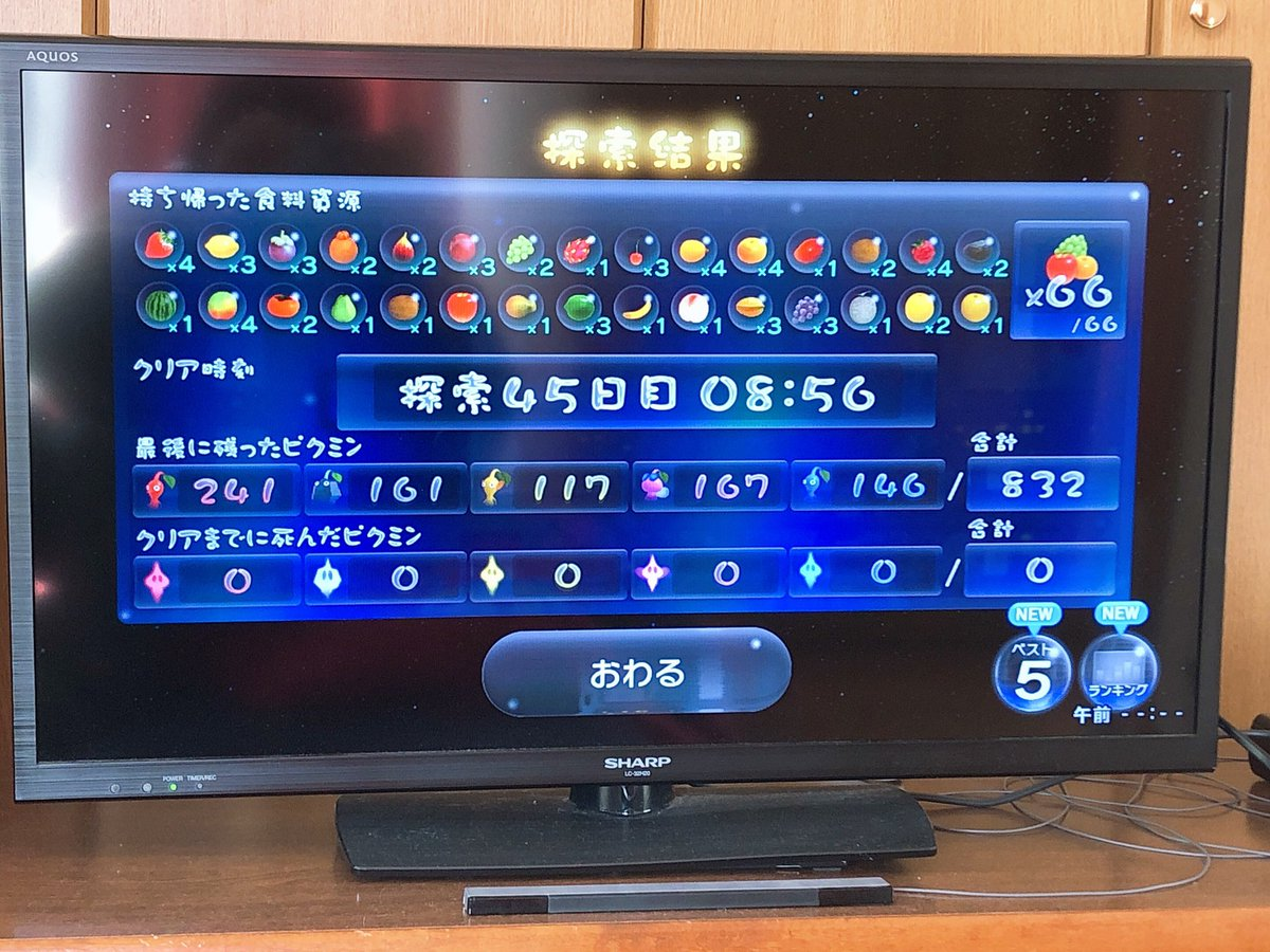 よっしゃぁぁぁぁぁぁぁぁぁぁぁぁぁぁぁぁぁぁ!!!!!!!ピクミン3無犠牲攻略クリアッッッ!!!!!