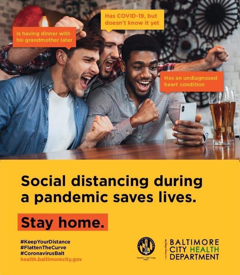 Why social distancing is important. ( Credit: Baltimore City Health Department)