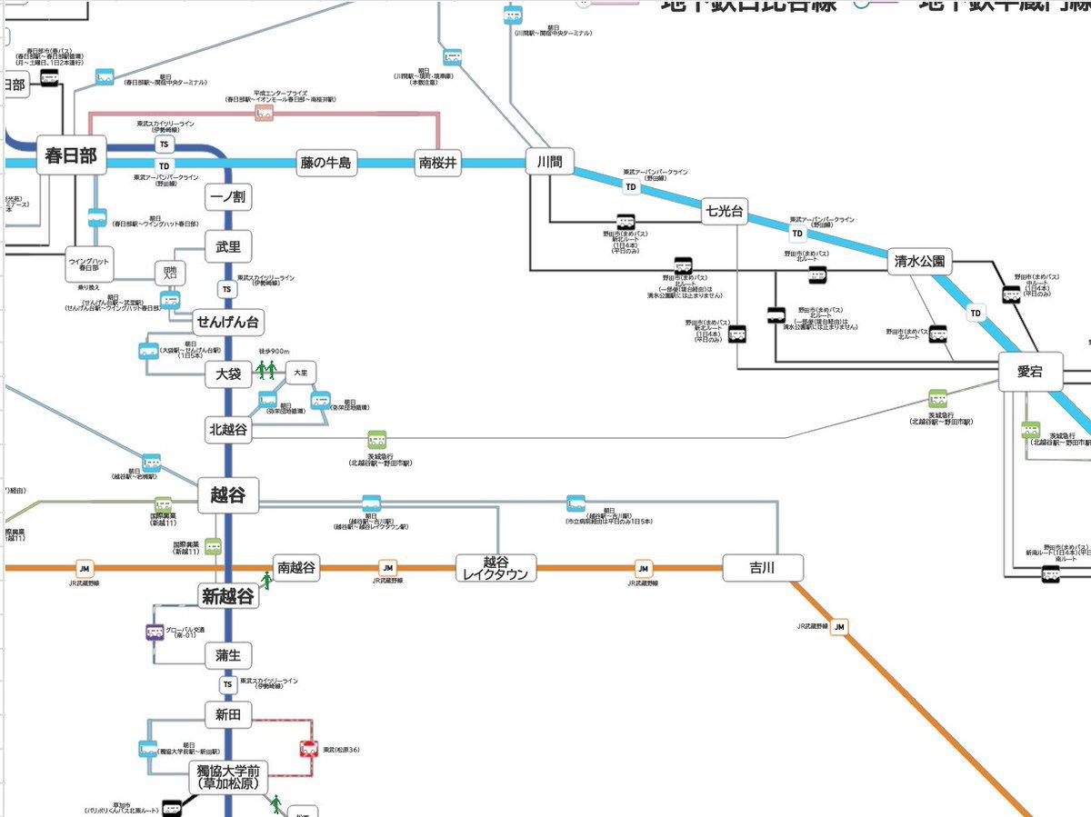 路線 図 東武 スカイ ライン ツリー