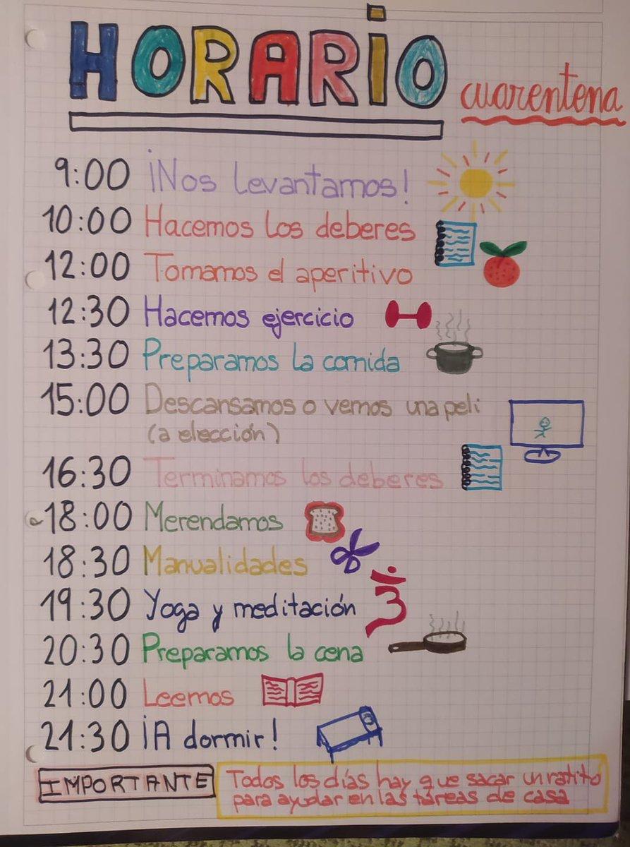 Resultado de imagen de ayuda para maestros horarios cuarentena