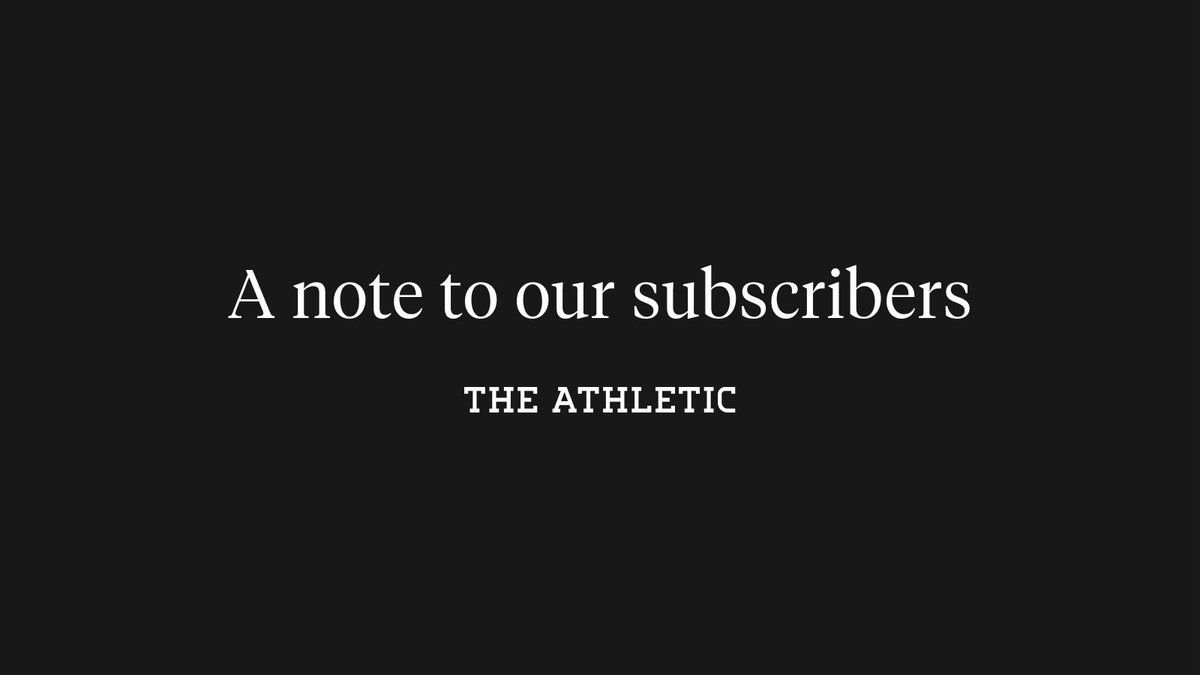 A letter from our editor 📚: theathletic.com/1677269/?sourc…