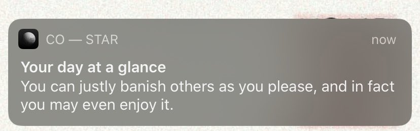 Co-Star, please