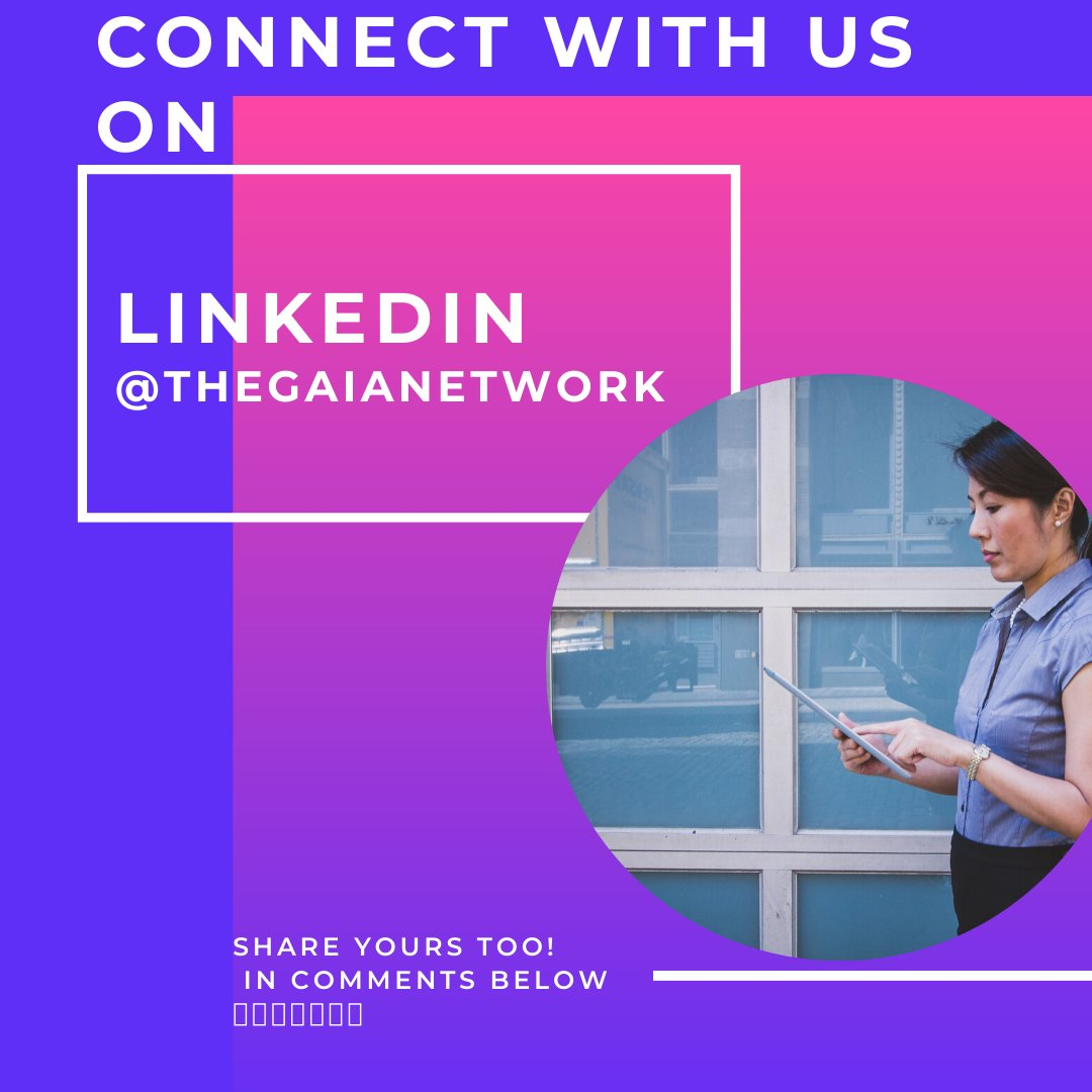 Hello Gaia Ladies! We are stronger together! Get connected with us on Linkedin. Especially if you do B2B (Business to Business) you need to be there!  See you there https://www.linkedin.com/company/thegaianetwork-org …  #thegaialinkedin #stayconnected #linkedin #thegaianetwork #womenmeanbusiness pic.twitter.com/P2hie5t1yy