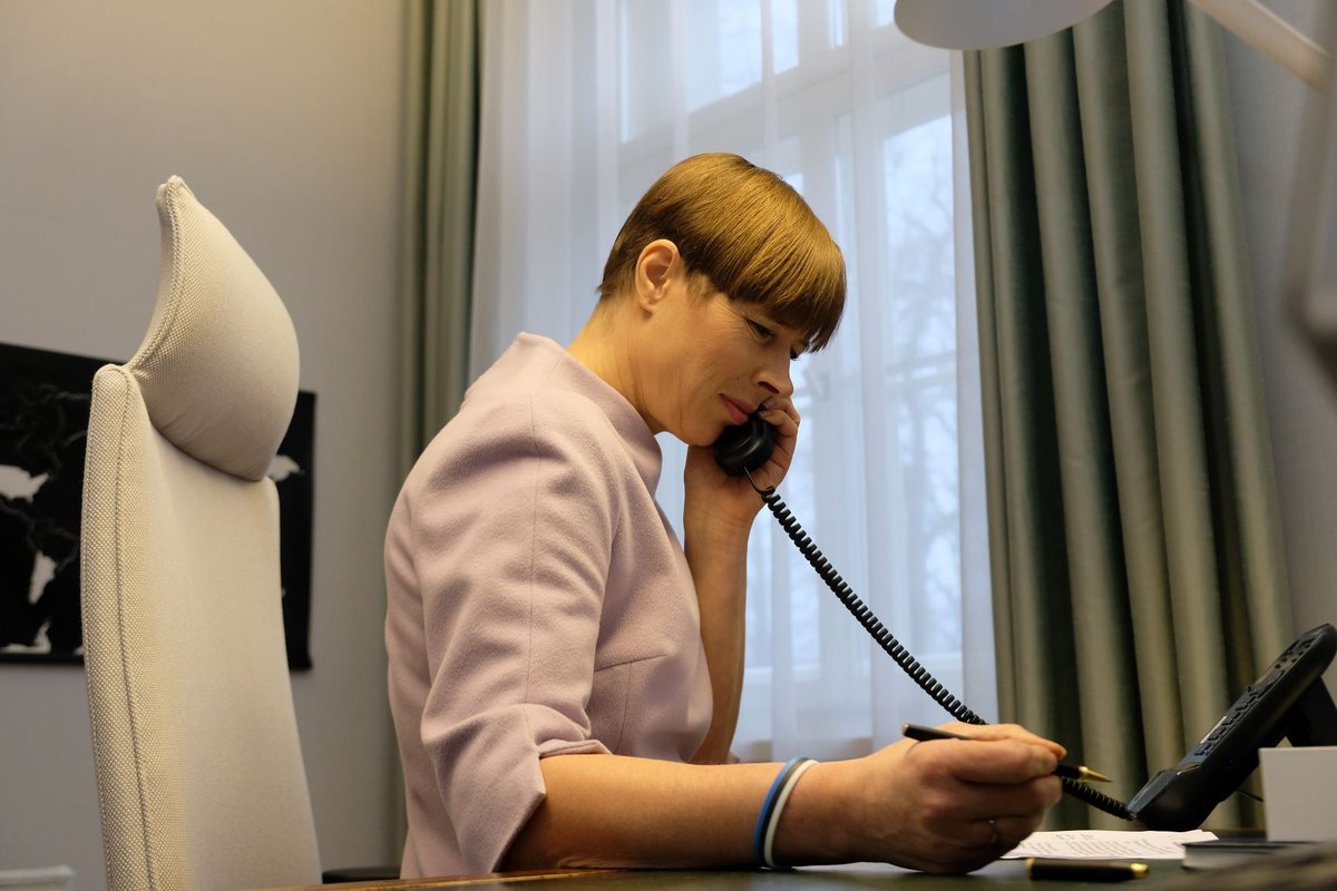 Kersti Kaljulaid On Twitter And Finally For Today A Phone Call With Vladimir Putin Discussed Our Measures To Contain The Spread Of The Virus And How To Allow Safe Passage Home To