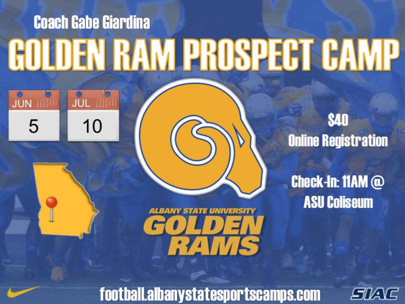 Registration is now open. It's never too early to sign up and get recruited! Come out, get better, compete, get on the radar of the Golden Rams coaching staff!   #BanyBuilt🐏  https://t.co/zjqxMFnmFD https://t.co/p34lmrRDfq