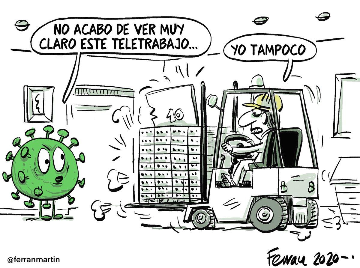 "Ferran Martín on Twitter: ""Teletrabajo. Viñeta 56 de la serie ..."