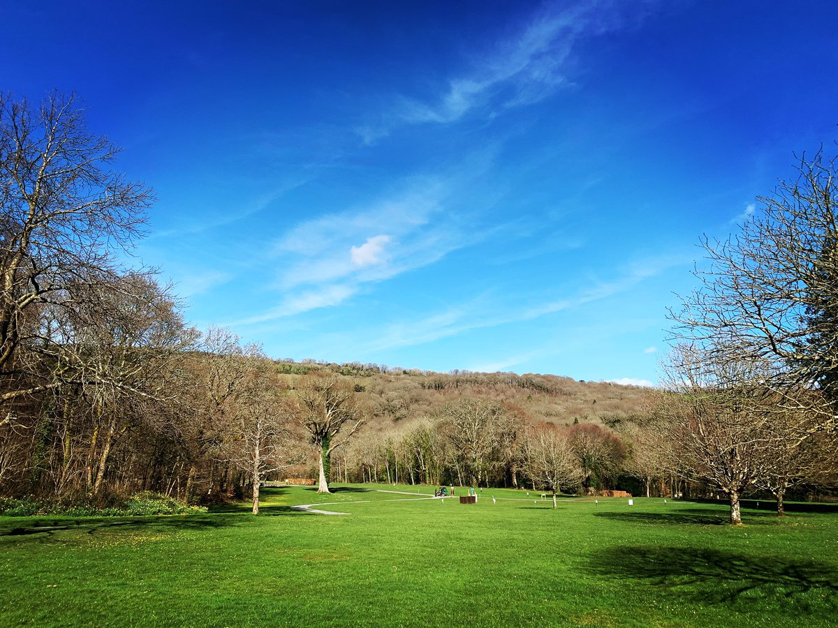 Well, hello Spring! The first blue sky in what seems like forever 😍🌞🌷 #camping #MondayMotivation #devon #dartmoor #bluesky #riverdartcountrypark