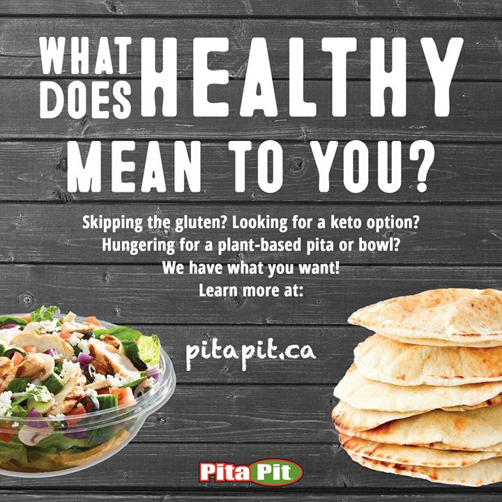 What does healthy mean to you?  Whether you're eating keto, plant-based, gluten-free or just trying to make healthy food choices, Pita Pit Canada has something for everyone!  #RefuseToSettle #PitaPitCanada #creationnation #pitapituc #winnipeg #manitobapic.twitter.com/5cRpOwWrcD