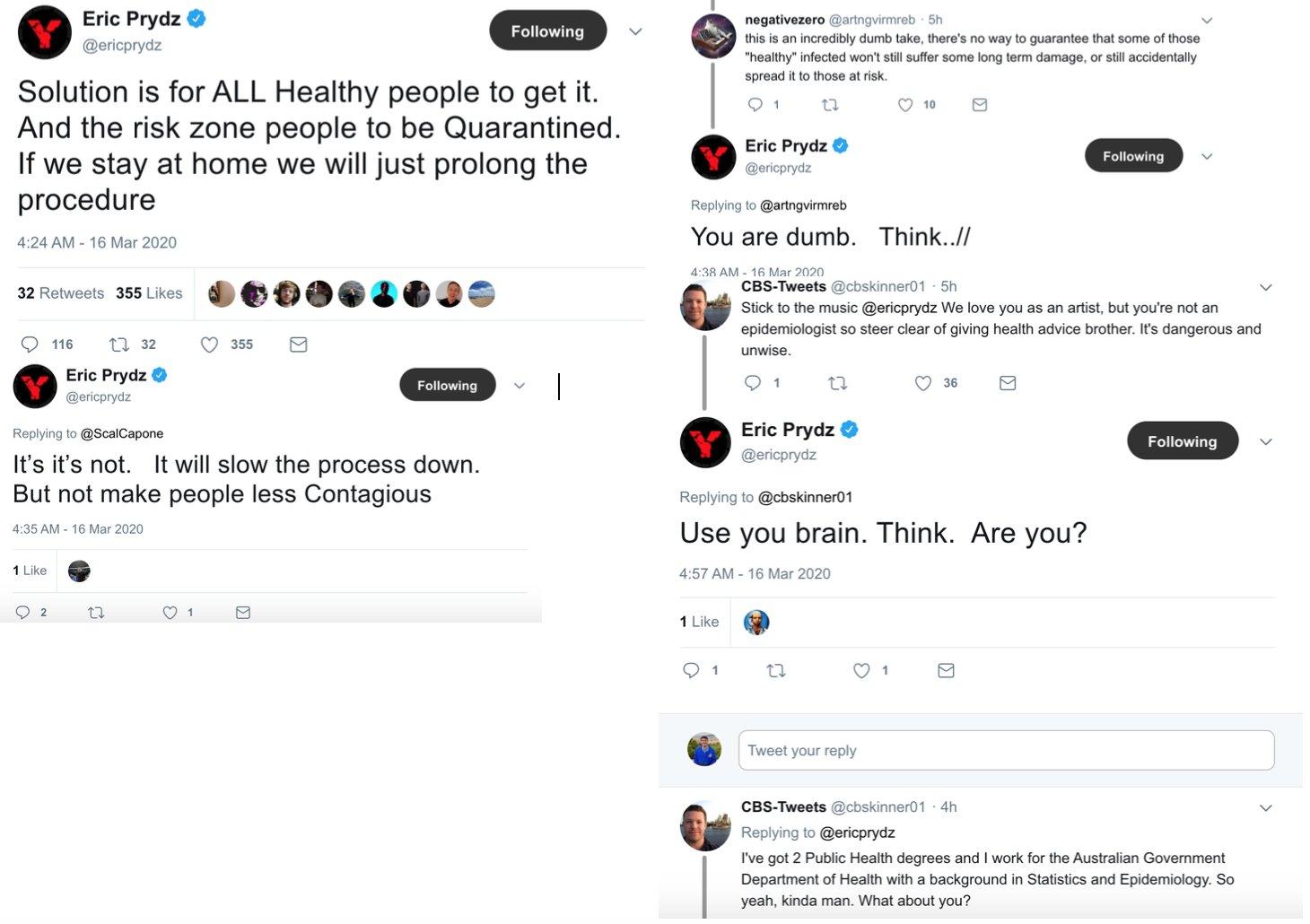 Eric Prydz Faces Backlash for Coronavirus Comments
