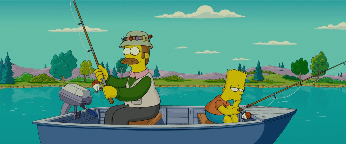Twitter पर Anthony70099 Bart Simpson And Ned Flanders Fishing In 2007 The Simpsons Movie And 2020 Season 31 Episode 16 Better Off Ned Thesimpsons Bartsimpson Nedflanders Https T Co Eebg8jz2gy
