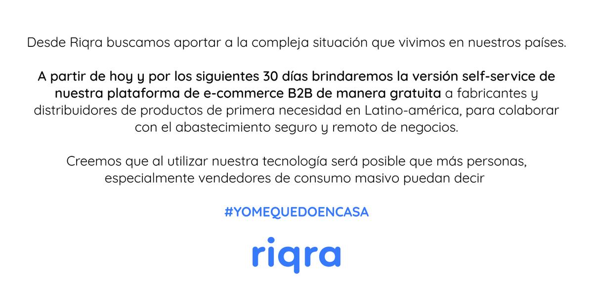 ❗La tecnología permite evitar la propagación del virus #COVID19, Este es nuestro aporte, los procesos de venta que aseguran la continuidad de los negocios pueden ser remotos. Comunicate con nosotros en 📩contacto@riqra.com o 📞 al +51 920027709  #YoMeQuedoEnCasa  #QuedateEnCasa https://t.co/0bdIYNTTo2