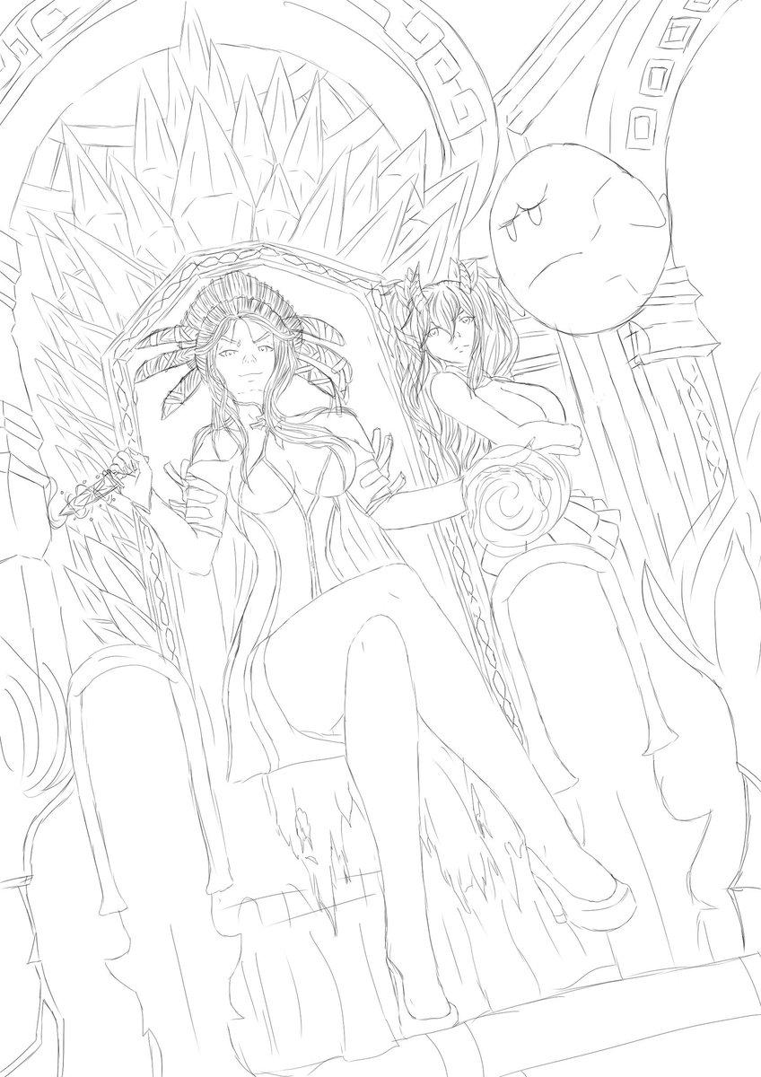 Just finishing the line art then get the base colouring done tomorrow #RWBY #SALEM #OC #BOO #art #anime #animeart #rwbyfandom #rwbyoc #anime #animedoodle pic.twitter.com/3rWQsHYwqT