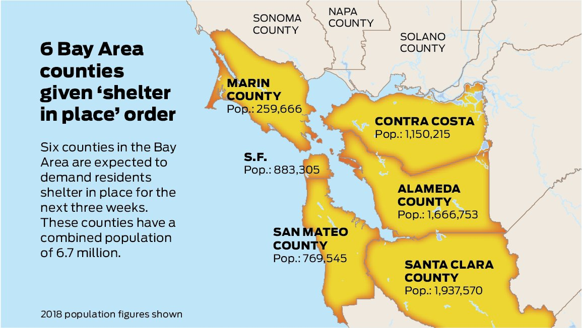 San Francisco Chronicle On Twitter Map Six Counties In The Bay Area Given Shelter In Place Order Read More Https T Co Ltbnul35du At end 2019, the total population is over 72 million, the gdp is usd 1,679.5 billion and gdp per capita is usd 23 the steering committee for the development of the greater bay area, chaired by chief executive mrs carrie lam and comprising all secretaries of. san francisco chronicle on twitter