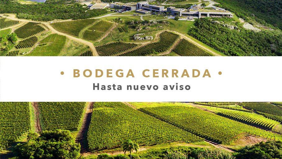 Comunicamos que debido a las medidas recomendadas por el MSP del Uruguay frente al COVID-19, hemos decidido suspender hasta nuevo aviso las actividades turísticas y gastronómicas desarrolladas en #BodegaGarzón. Agradecemos su comprensión y esperamos recibirlos pronto. https://t.co/Ogd4YBs8Ie