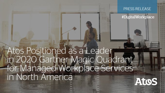 For the third consecutive year, Atos in North America has been positioned as a...