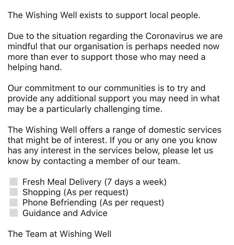 Please take a minute to have a look at these opportunities from @TheWishingWellP  #CharityTuesday #sonnetradio #ProperLocalRadio