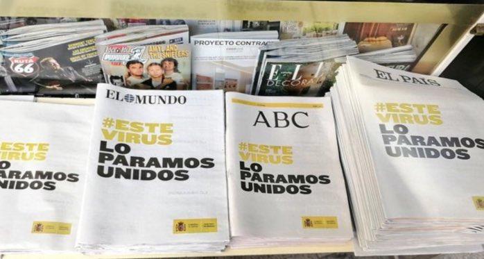 Resultado de imagen de portadas de periodicos iguales juntos
