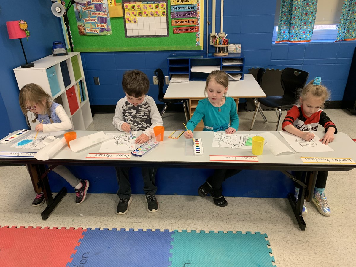 Mrs. Cauwenbergh's class was painting the Leprechaun they wrote about!!! #fultonproud #onebartley