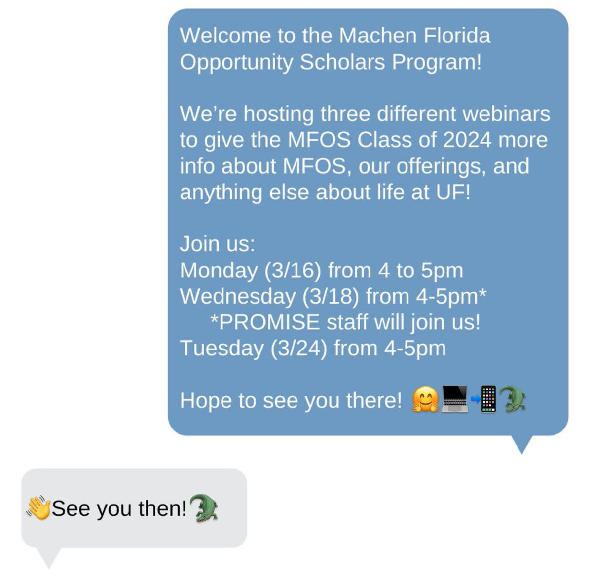 Our first #UF24 MFOS webinar is 🔜 Check your emails for the link 🔗