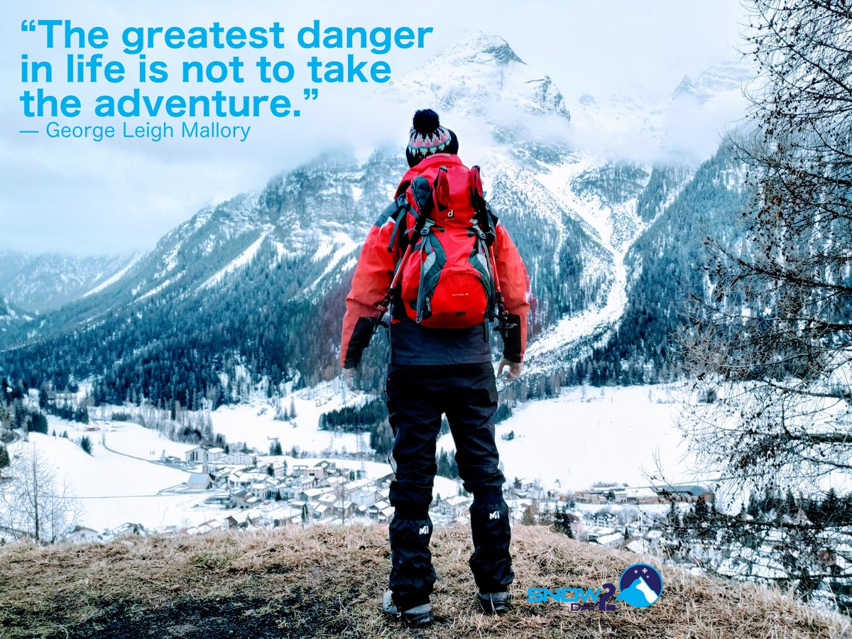 """The greatest danger in life is not to take the adventure."" — George Leigh Mallory . http://snow2day.com . #yomequedoencasa #stayAtHomeNow #quarantine #cargandopilas #juntospodemos #coronavirus #yeswecan #bergün #switzerland #alps #aventura  #nieve #adventure #parcElapic.twitter.com/IXF54RH2ps"