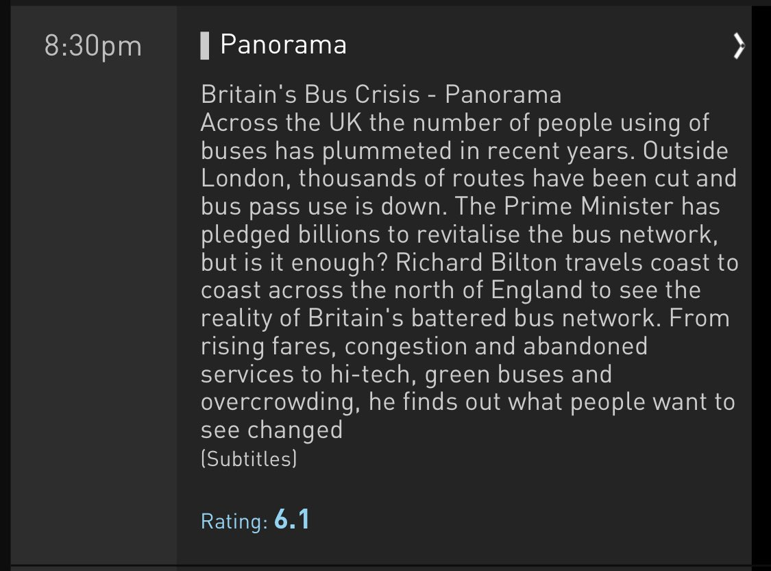 Really @BBCPanorama? I don't think this is the crisis we're worrying about right now... 🚍 #covidー19uk #Panorama https://t.co/4sPufFViCR