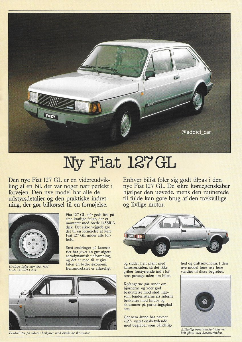 Carbrochureaddict On Twitter 1 2 After The Uno Arrived It Seemed The Fiat 127 Refused To Die This Danish Brochure Shows The Company Offered A New Version The So Called 127 Unificata In Fact