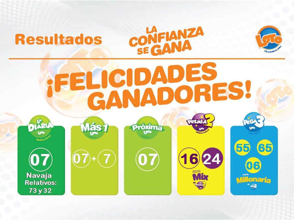 Loto On Twitter Resultados 3 00 P M 16 De Marzo De 2020 La Diaria 07 Navaja Mas1 07 7 Pega3 55 65 06 Premia2 16 24