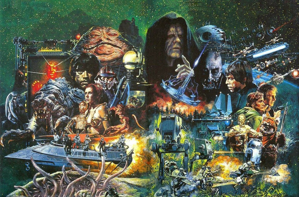 Deux Pixels On Twitter The First Star Wars Trilogy By Noriyoshi Ohrai Https T Co Knkvri940j Star Wars Episode Iv A New Hope 1977 Star Wars Episode V The Empire Strikes Back