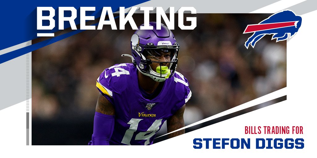 Bills make huge splash, acquire WR Stefon Diggs from Vikings