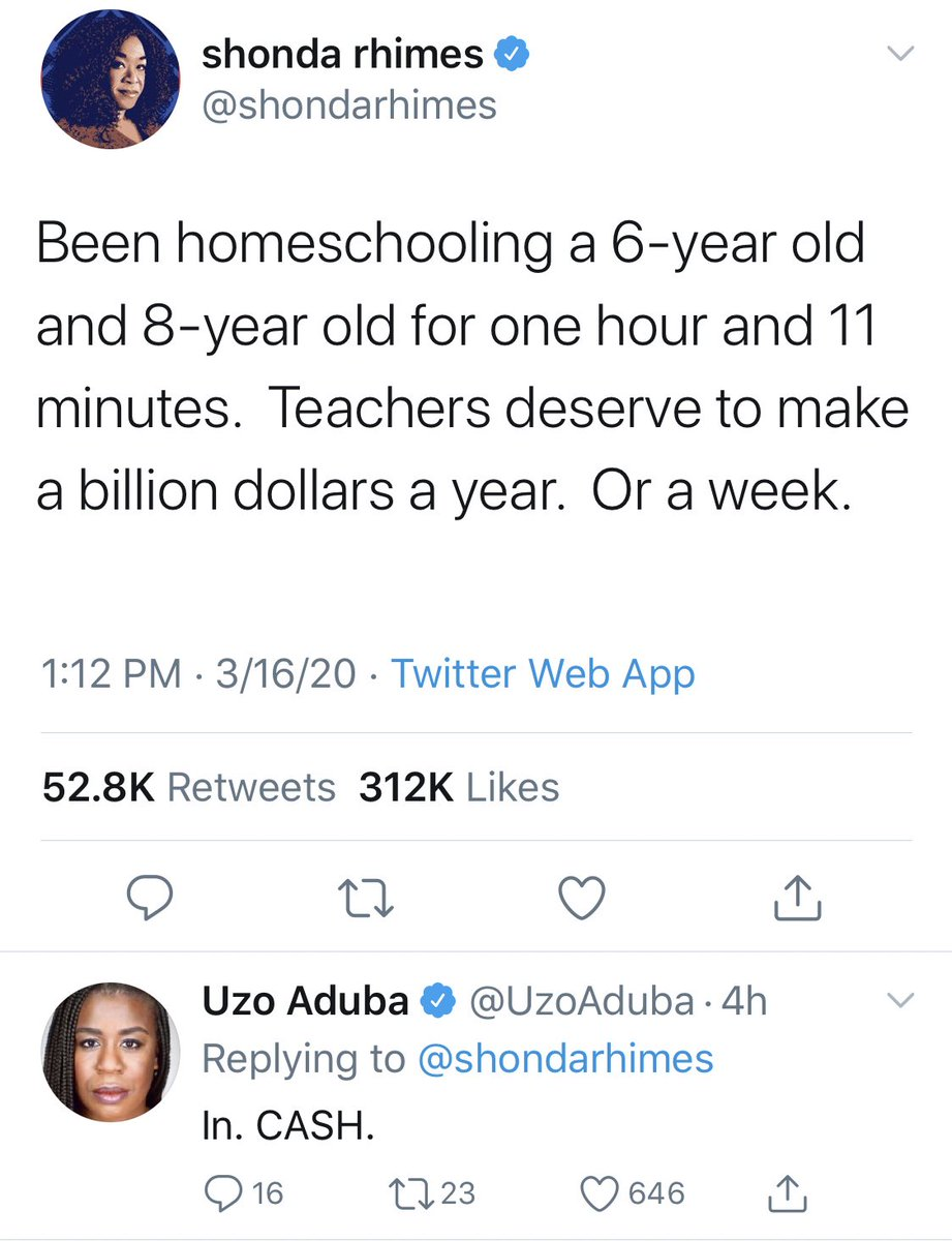 I'm starting a thread of blue checkmarks who think teachers need to be paid more.