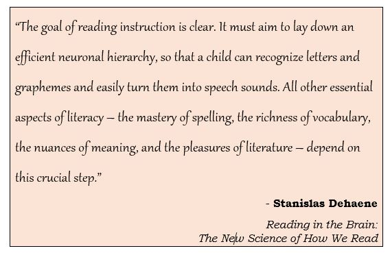 Reading Teachers - Here's an excerpt from a book by @StanDehaene that I highly recommend:
