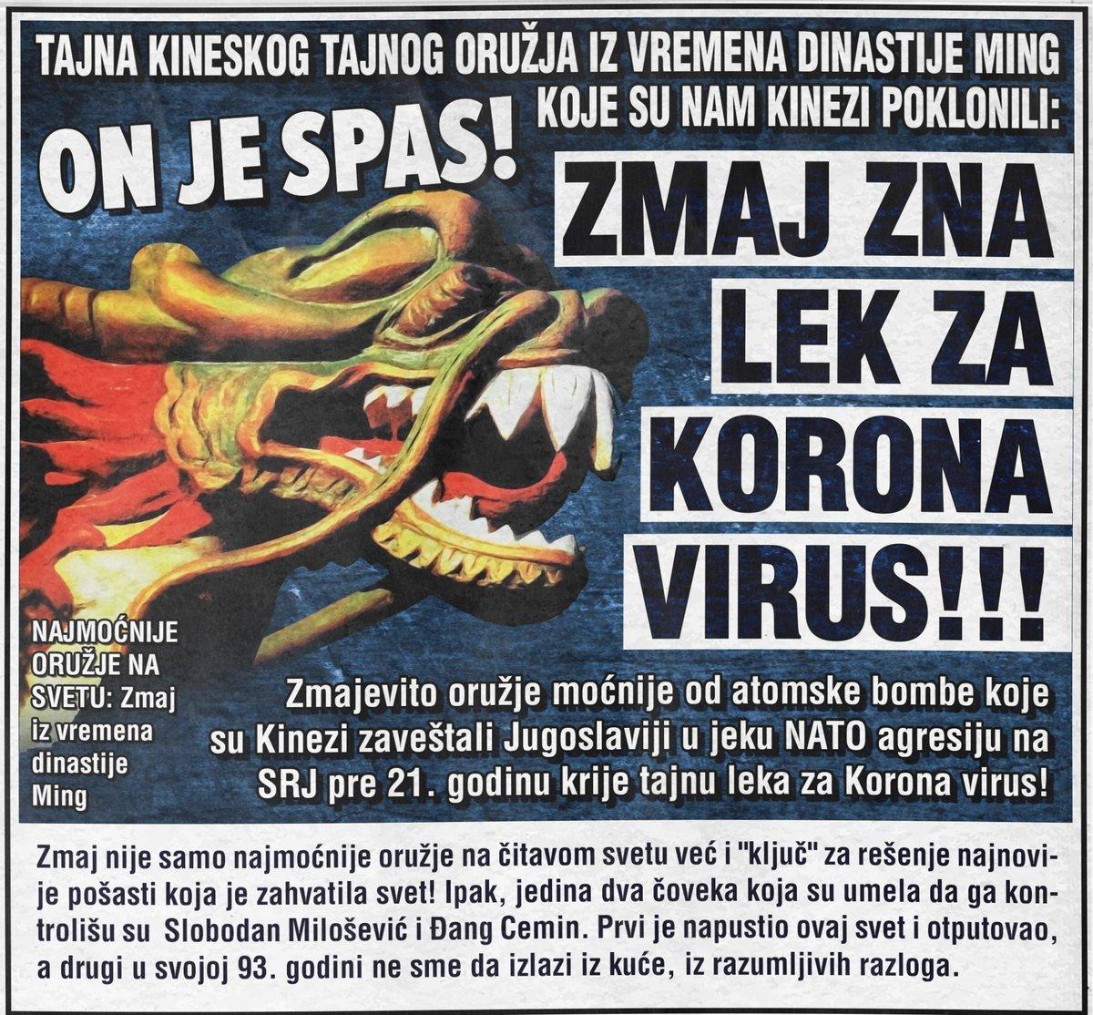 Zmaj je lek za Korona virus