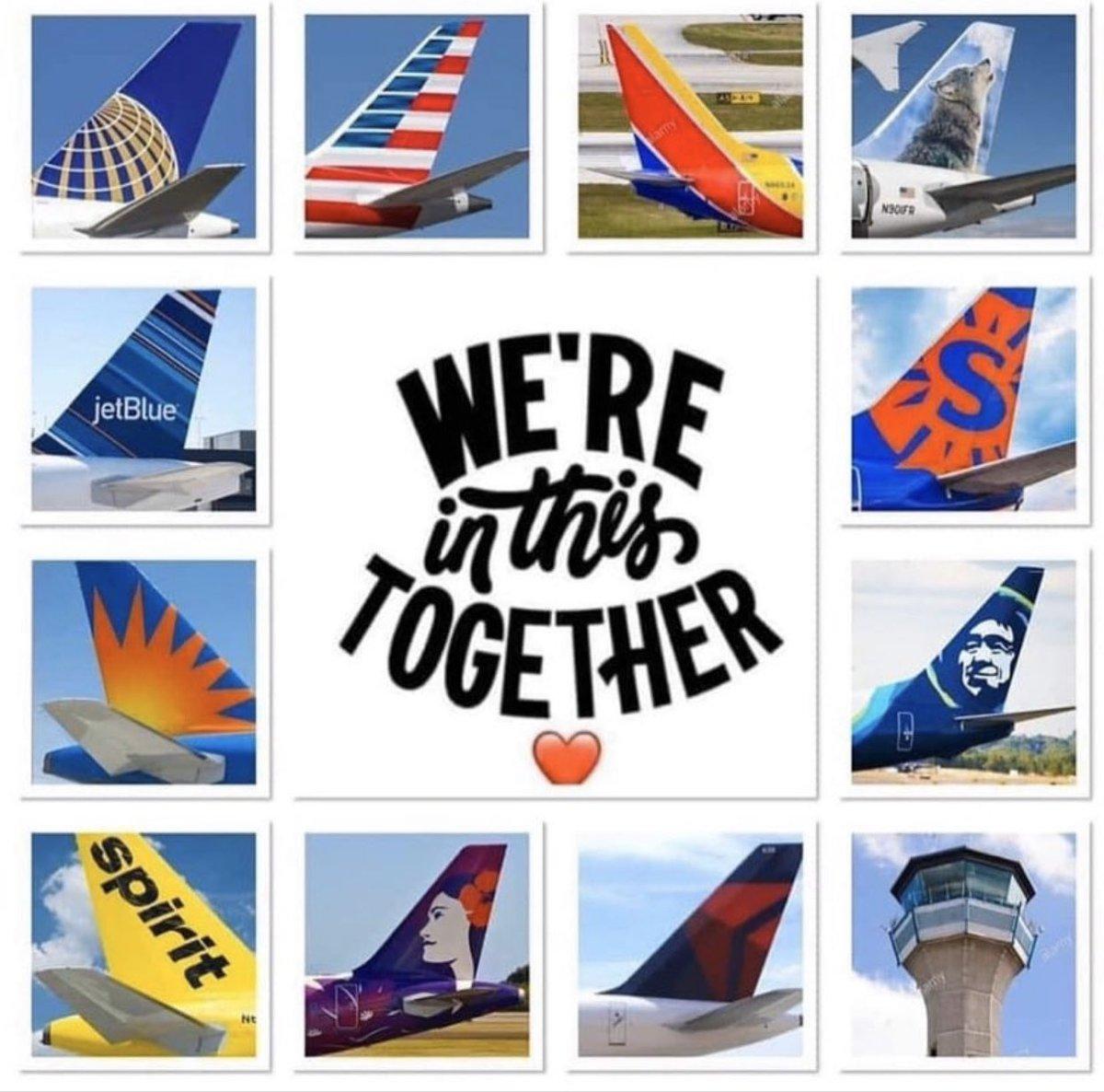We will push forward together, UNITED we stand! As an industry we stand together. @JMRoitman @EWRmike @jeff_riedel160 @BsquaredUA @GregHart_UAL @Tobyatunited @weareunited