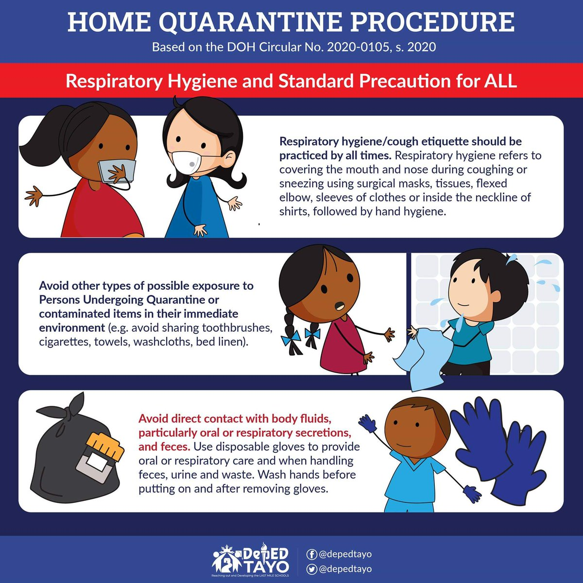 "DENR on Twitter: ""LOOK: Home Quarantine Procedures created by ..."