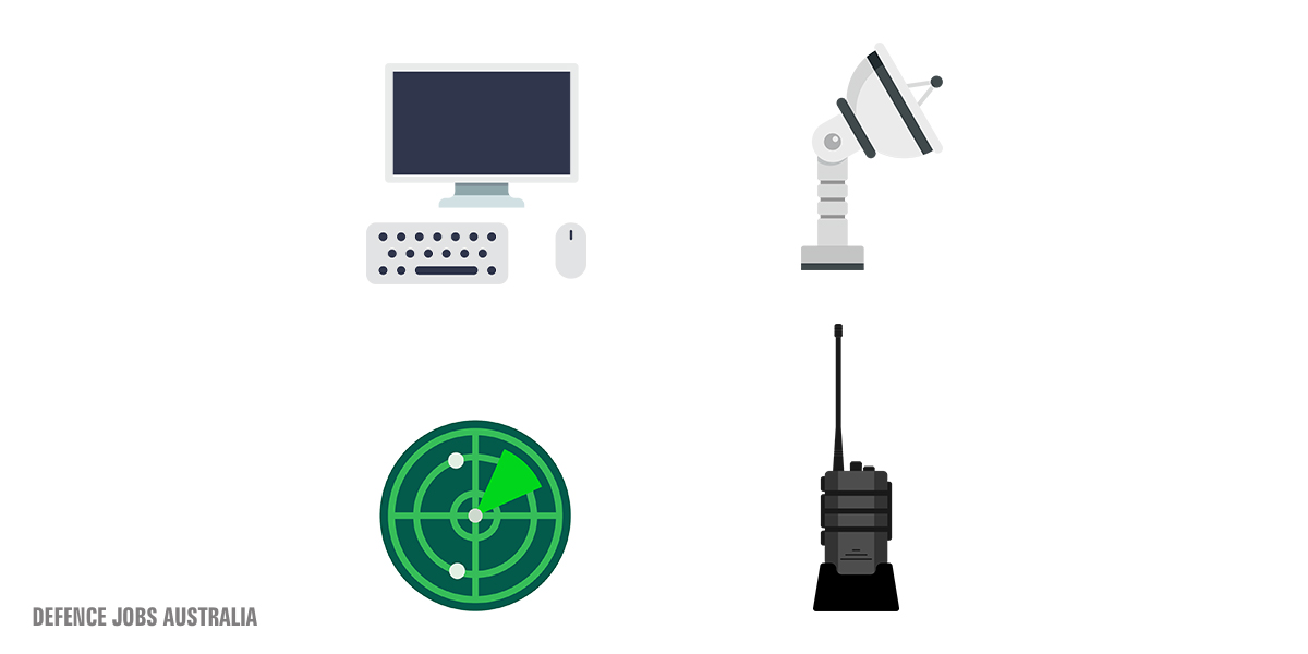 As a #CommunicationsElectronicsTechnician in the #AusAirForce you'll repair and maintain these devices. Can you guess them all? https://t.co/TnF5o1e0gW https://t.co/vgJlBbCASQ