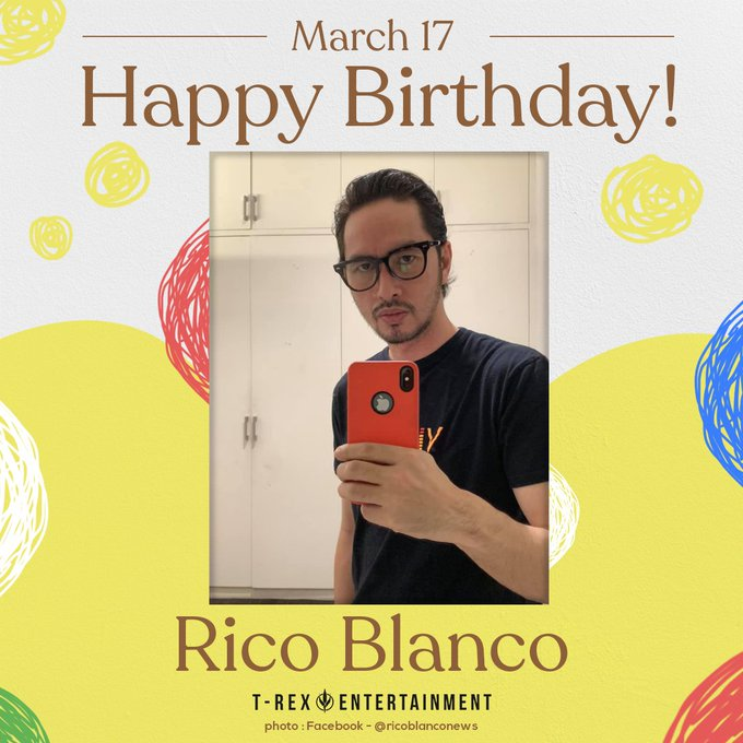 Happy 47th birthday, Rico Blanco!  Trivia: His full name is Rico Rene Granados Blanco.