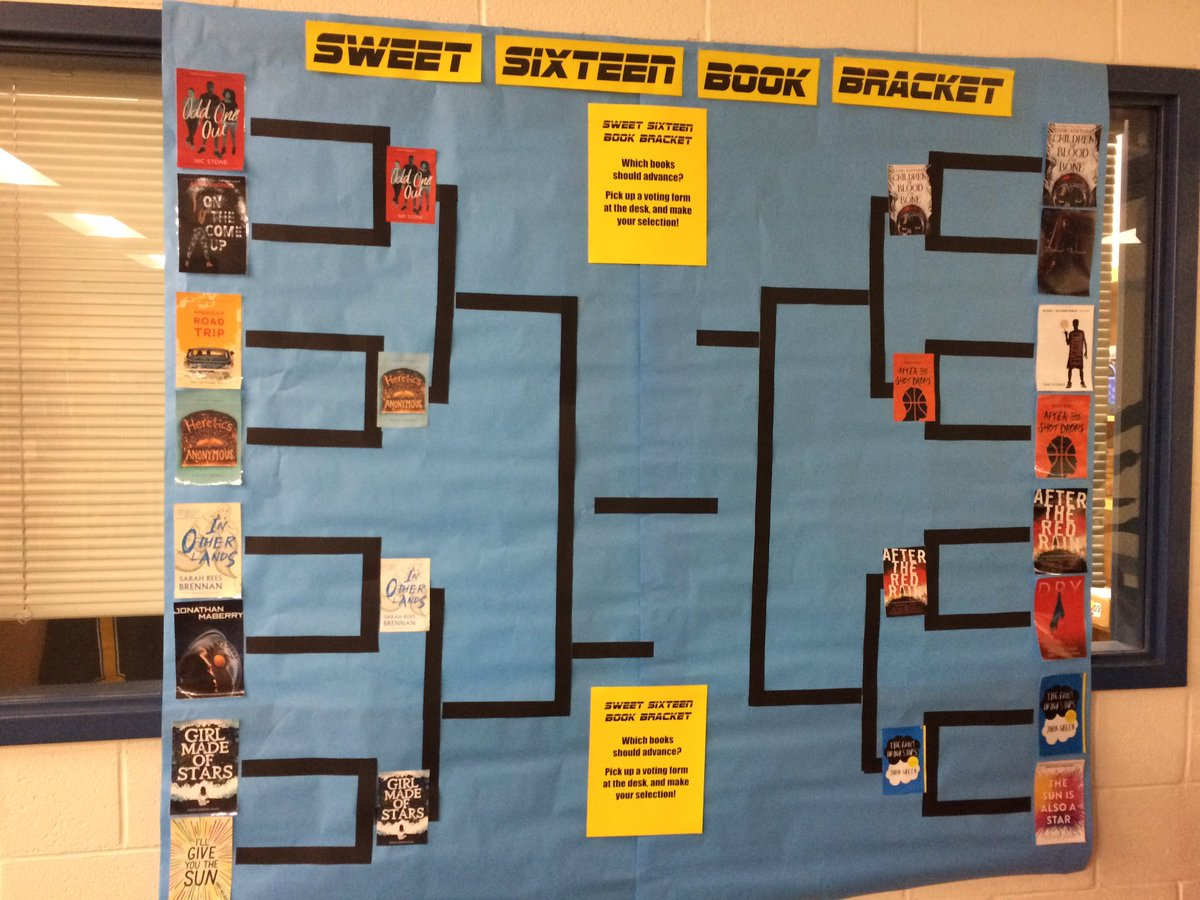 Perhaps the only bracket you'll see this month! Which books should advance to the final four? Tweet your votes!