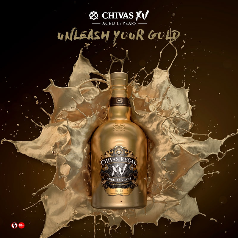 For a whisky with a uniquely refined, fruity and velvety taste, we bring to you a new addition to our family, Chivas XV. #UnleashYourGold #ChivasXV https://t.co/A1Q5Ni9tFo