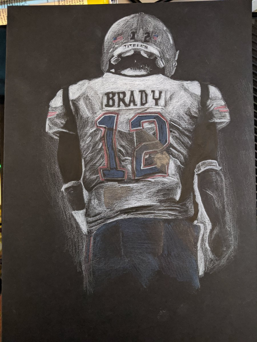 One of my drawings has never adequately shown how I feel so well.  Genuinely feel like I've been punched.  @TomBrady @Patriots @NFLUK   #tombrady #patriots #brady #tb12 #goat #weareallpatriots pic.twitter.com/7zEcDcEgip