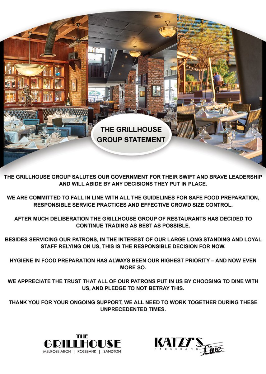 The Grillhouse Group Statement Covid-19  Please click on link below? https://t.co/ZEa7s3CQG2  Thank you https://t.co/Uo9VwBzbFs